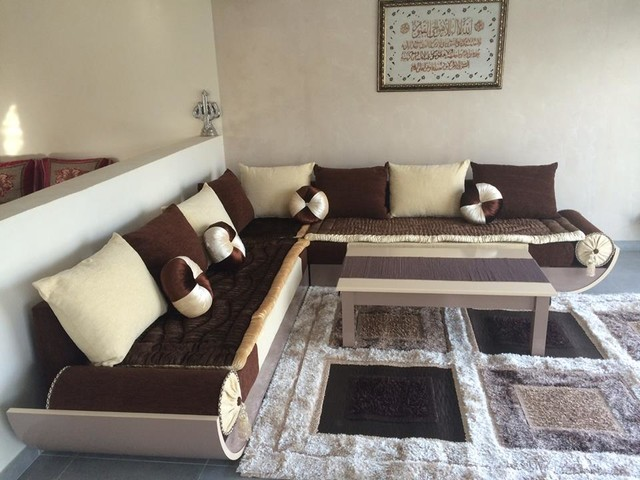ealisation salon marocain moderno soggiorno angers di maroc salons. Black Bedroom Furniture Sets. Home Design Ideas