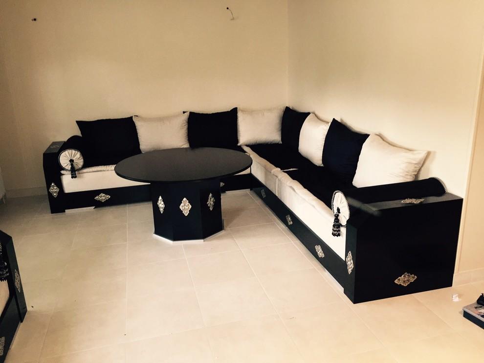 ealisation salon marocain - Modern - Living Room - Angers ...