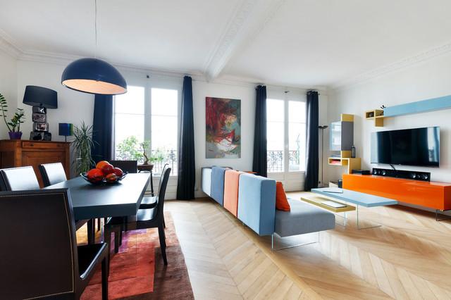 Entr e et salon design et couleurs paris scandinavian - Separer entree et salon ...