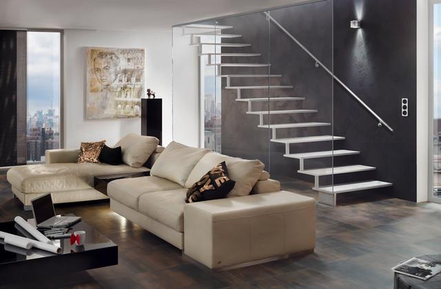 Escalier Design Metal Areo Contemporain Salon