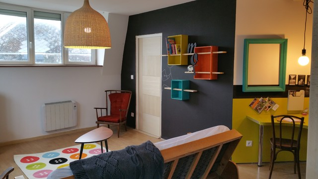 Espace Salon Eclectic Living Room Lille By Bin Home