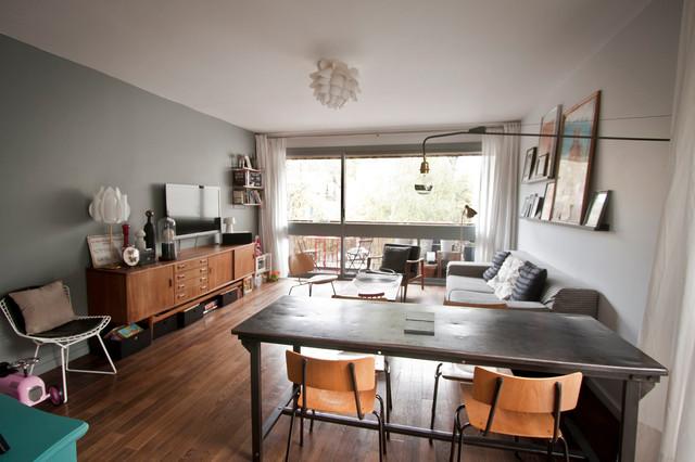 esprit loft scandinave salon grenoble par agence soixante quinze. Black Bedroom Furniture Sets. Home Design Ideas