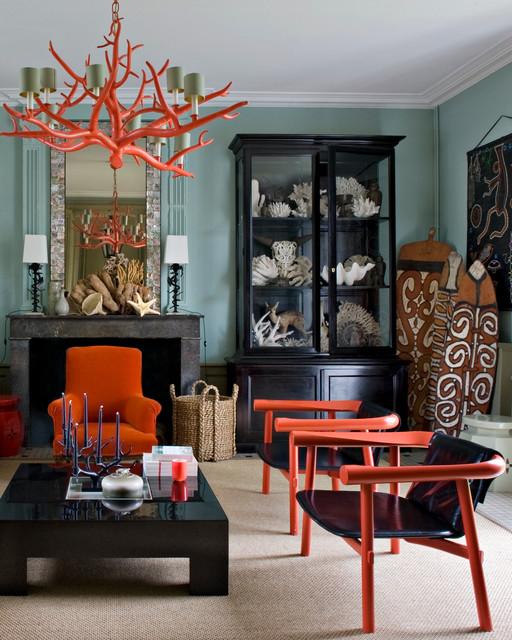 captivating tropical touches living room | Exotique Salon