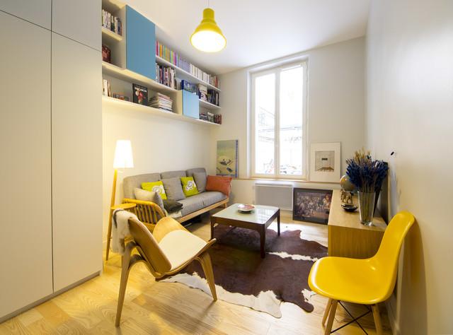 François - Appartement de 35 m² optimisé 北欧-リビング居間