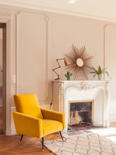 Grand appartement haussmannien 180m2 r tro salon for Appartement haussmannien decoration