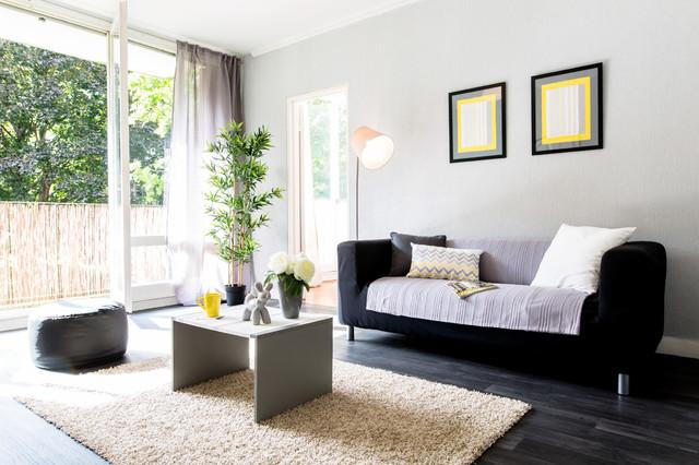 home staging lyon la mulati re contemporain salon lyon par tiphanie fogel home staging. Black Bedroom Furniture Sets. Home Design Ideas
