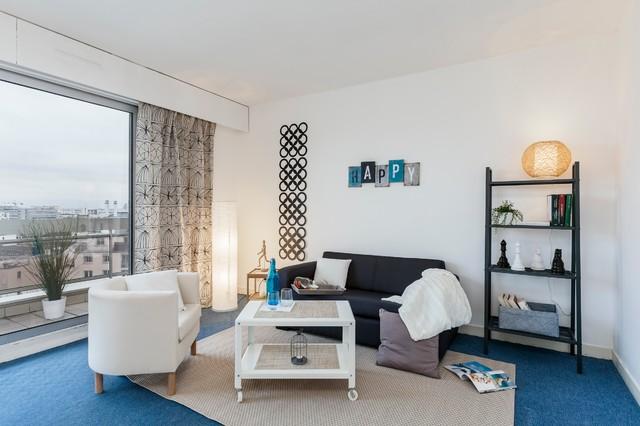 home staging contemporain salon paris par sonia. Black Bedroom Furniture Sets. Home Design Ideas