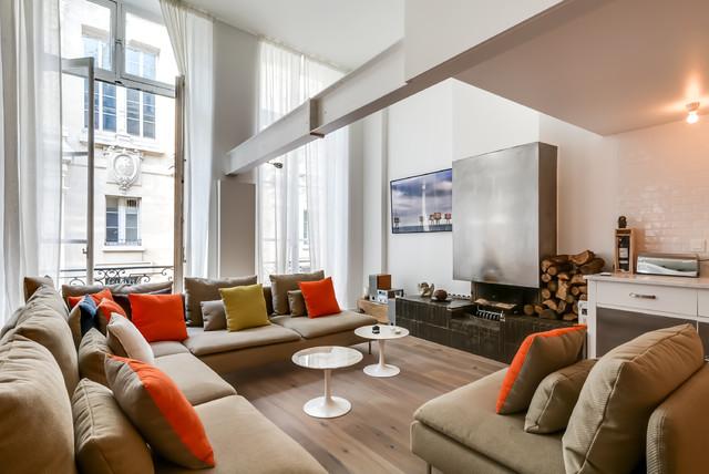 jean jacques rousseau contemporary living room paris by meero. Black Bedroom Furniture Sets. Home Design Ideas