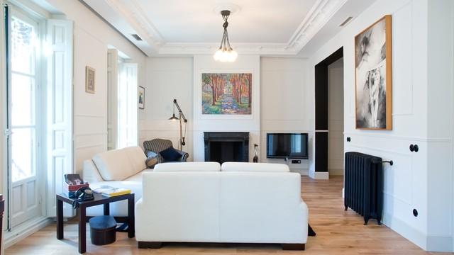 la belle poque flat in madrid salon contemporain salon other metro par mike alleg. Black Bedroom Furniture Sets. Home Design Ideas