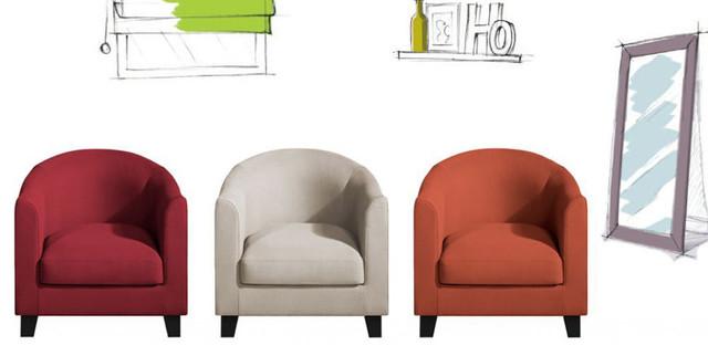 Modern Design Fauteuil.Le Fauteuil Solo Type Club En Tissu Home Spirit Modern Living