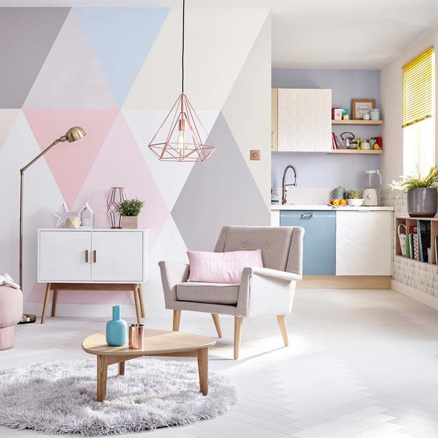 Le Pastel Impose Son Caractère   Scandinave   Salon   Lille   Par Leroy  Merlin OFFICIEL