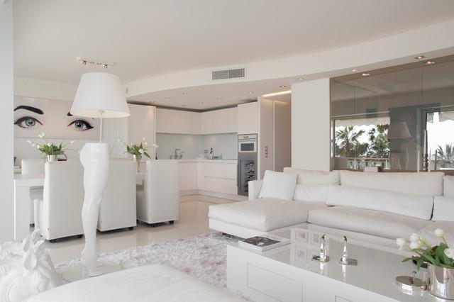Le tout blanc - Modern - Wohnbereich - Nizza - von Signe ...