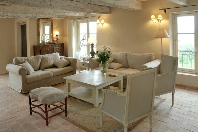 Living room from provence traditional family room Maison de provence decoration