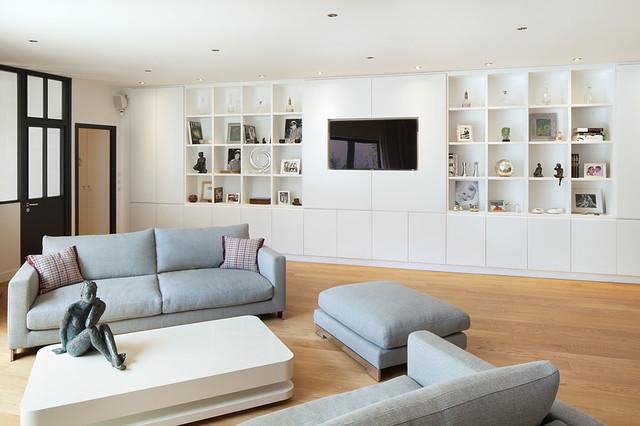 Loft Boulogne-Billancourt - Contemporary - Living Room - Paris - by ...