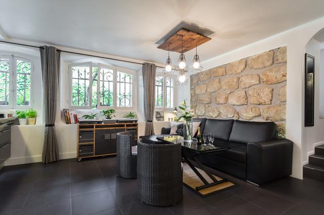 Loft design contemporain salon nice par franck for Suspension contemporaine salon