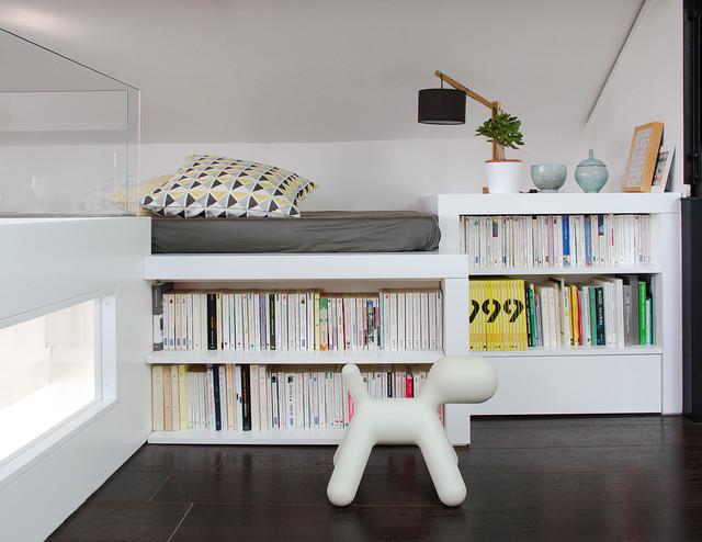 loft mezzannine contemporain salon lyon par guillaume bouvet artisan menuisier designer. Black Bedroom Furniture Sets. Home Design Ideas