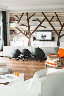 Loft paris 16 contemporain salon paris par julien - Quincaillerie paris 16 ...