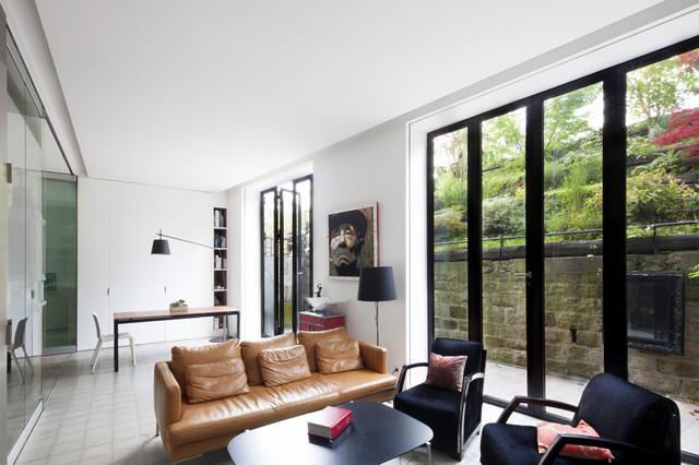 loft rue du colonel oudot contemporain salon paris par scape. Black Bedroom Furniture Sets. Home Design Ideas