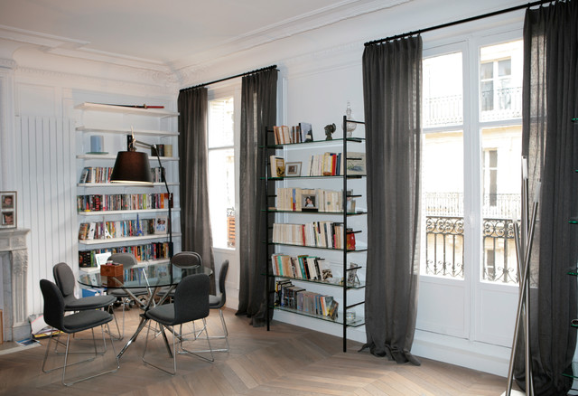 magnifique appartement haussmannien dans le 17 me classique chic salon paris par carpiem. Black Bedroom Furniture Sets. Home Design Ideas