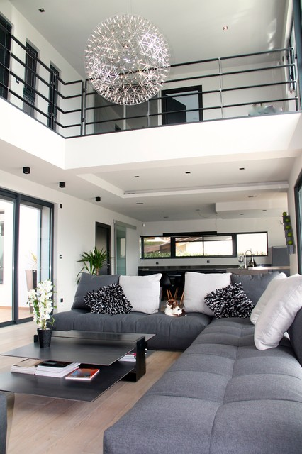 Maison contemporain - Contemporary - Living Room - Grenoble - by ...