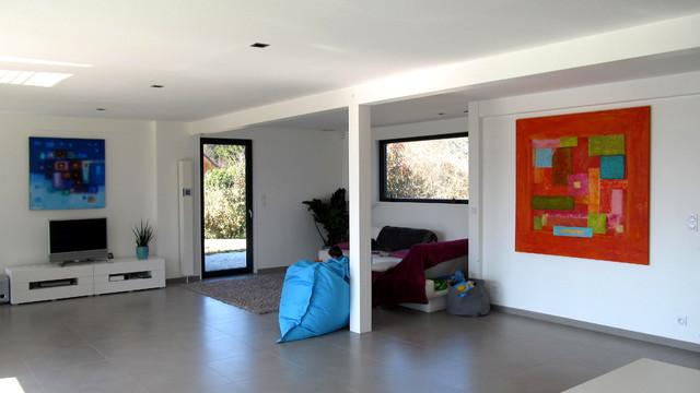 maison poteau poutre en savoie contemporain salon grenoble par tangentes architectes. Black Bedroom Furniture Sets. Home Design Ideas