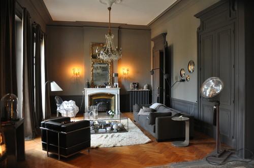 ce salon est pass au gris. Black Bedroom Furniture Sets. Home Design Ideas
