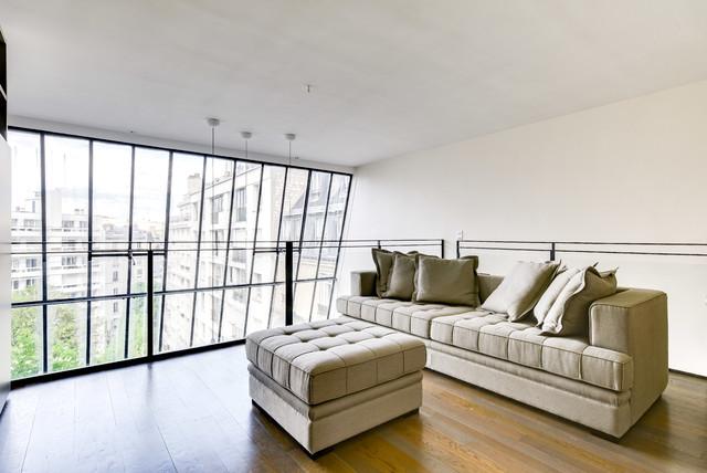 Mezzanine salon télé bureau - Modern - Wohnbereich - Paris ...
