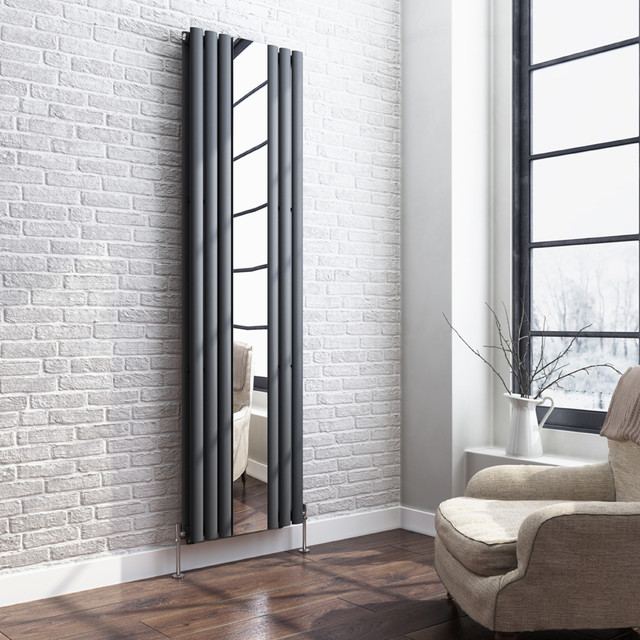 mirrored anthracite radiator modern living room other by