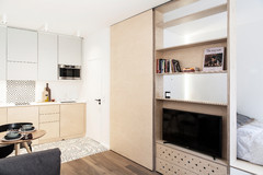 Paris Houzz: A 280-Sq-Ft Flat Squeezes in Comforts of a Big Apartment
