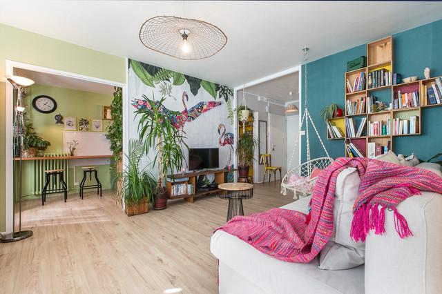 Nature Bohême Tropical Living Room Other By Espace Denvie