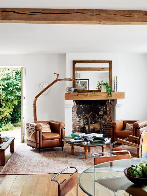 Normandy House farmhouse-living-room