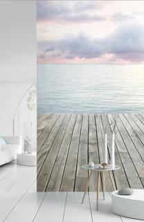 papier peint marin bord de mer salon lille par. Black Bedroom Furniture Sets. Home Design Ideas