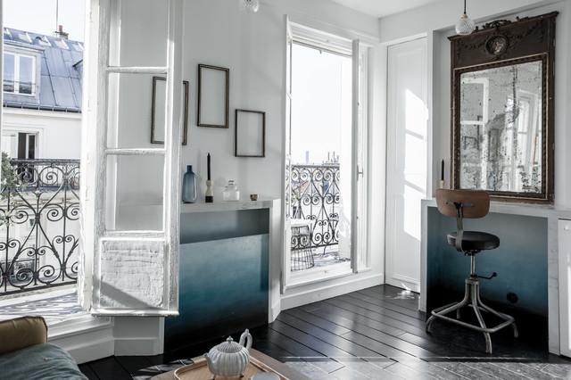 paris canal st martin 16 m2 scandinavo soggiorno parigi di miriam gassmann. Black Bedroom Furniture Sets. Home Design Ideas