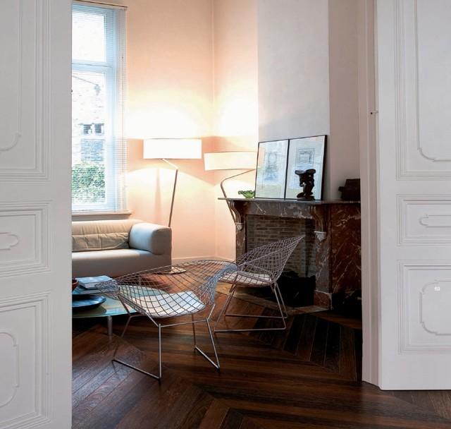 Parquet point de hongrie for Salon classique chic