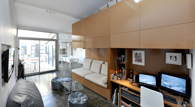 modern living room by FABRE/deMARIEN