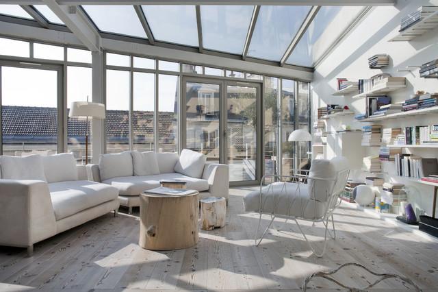 Pièce à vivre d\'un Loft LK Paris - Modern - Wohnbereich ...