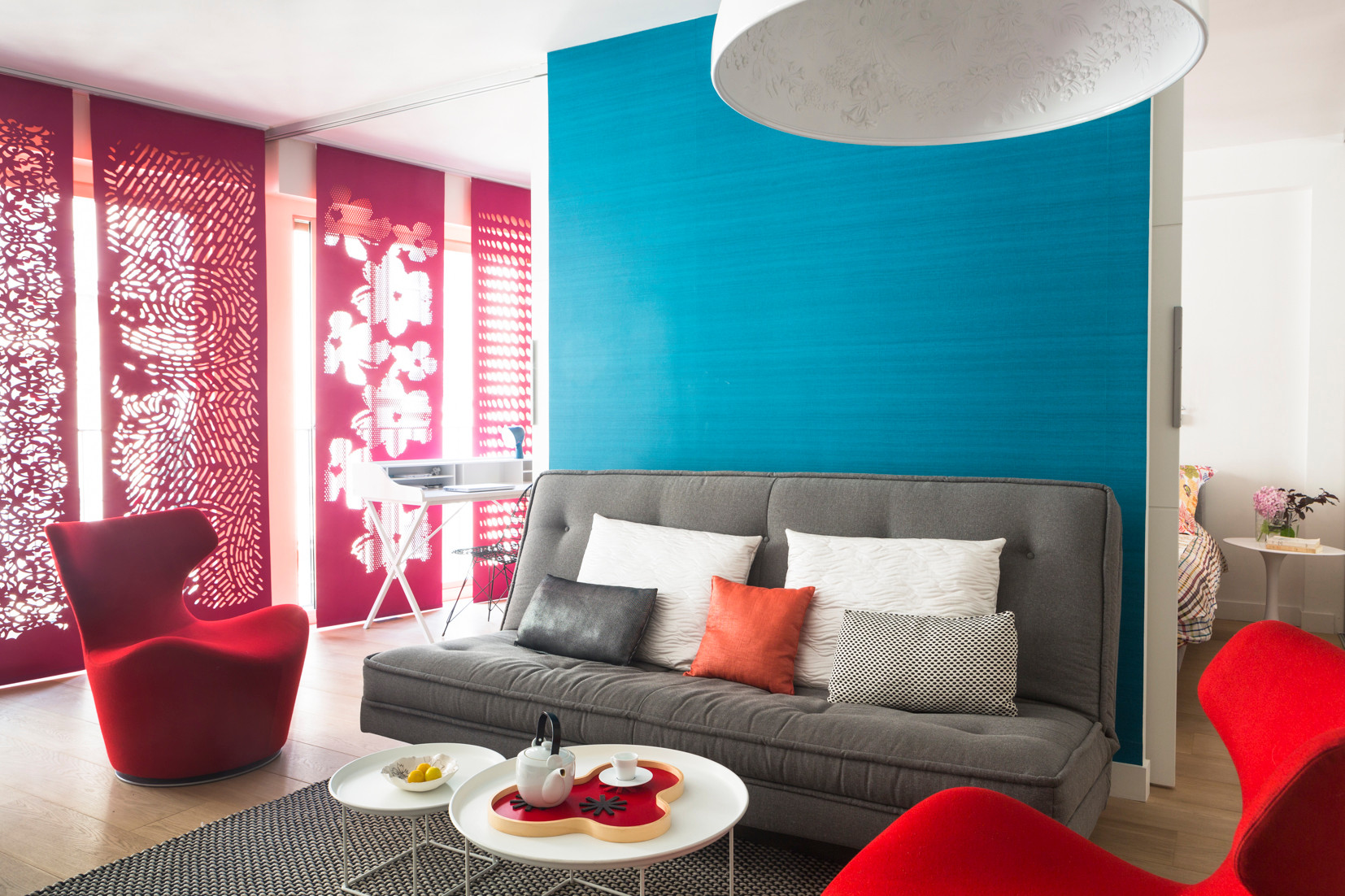 Teal And Red Houzz, Teal And Red Living Room