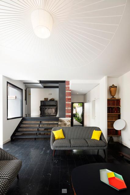 R-Houilles - salon contemporain - Modern - Wohnbereich ...