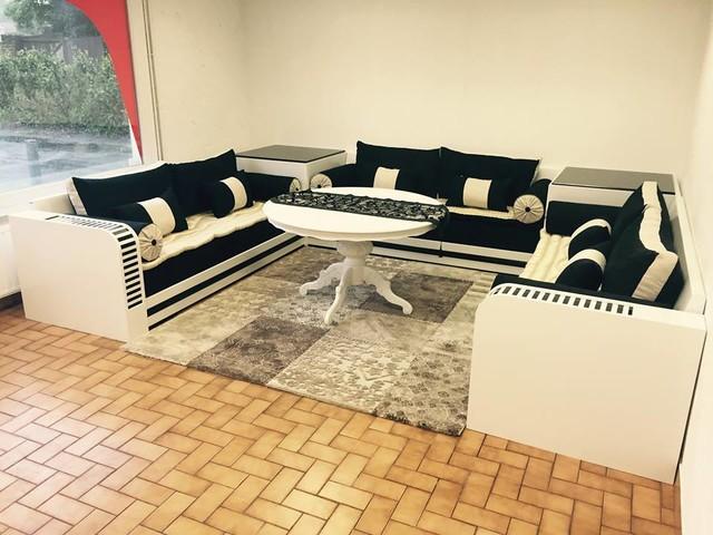 realisation salon marocain modern living room - Salon En Bois Et Tissu En Tunisie
