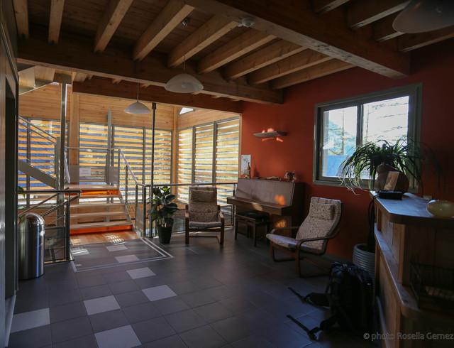 refuge de bayasse rustic living room other by eric gernez architecture. Black Bedroom Furniture Sets. Home Design Ideas