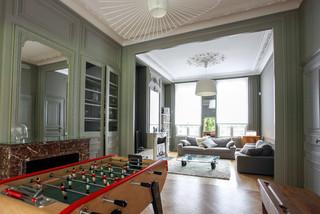Réhabilitation d\'une maison de maître - Salon classique chic ...