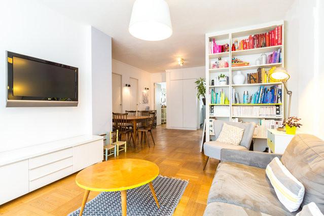Relooking d 39 appartement parisien moderne salon paris for Relooking appartement
