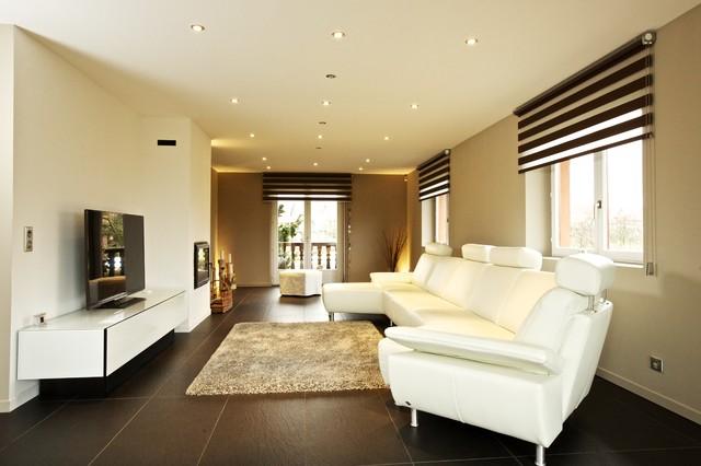relooking d 39 un s jour dans un esprit contemporain contemporain salon strasbourg par a3design. Black Bedroom Furniture Sets. Home Design Ideas