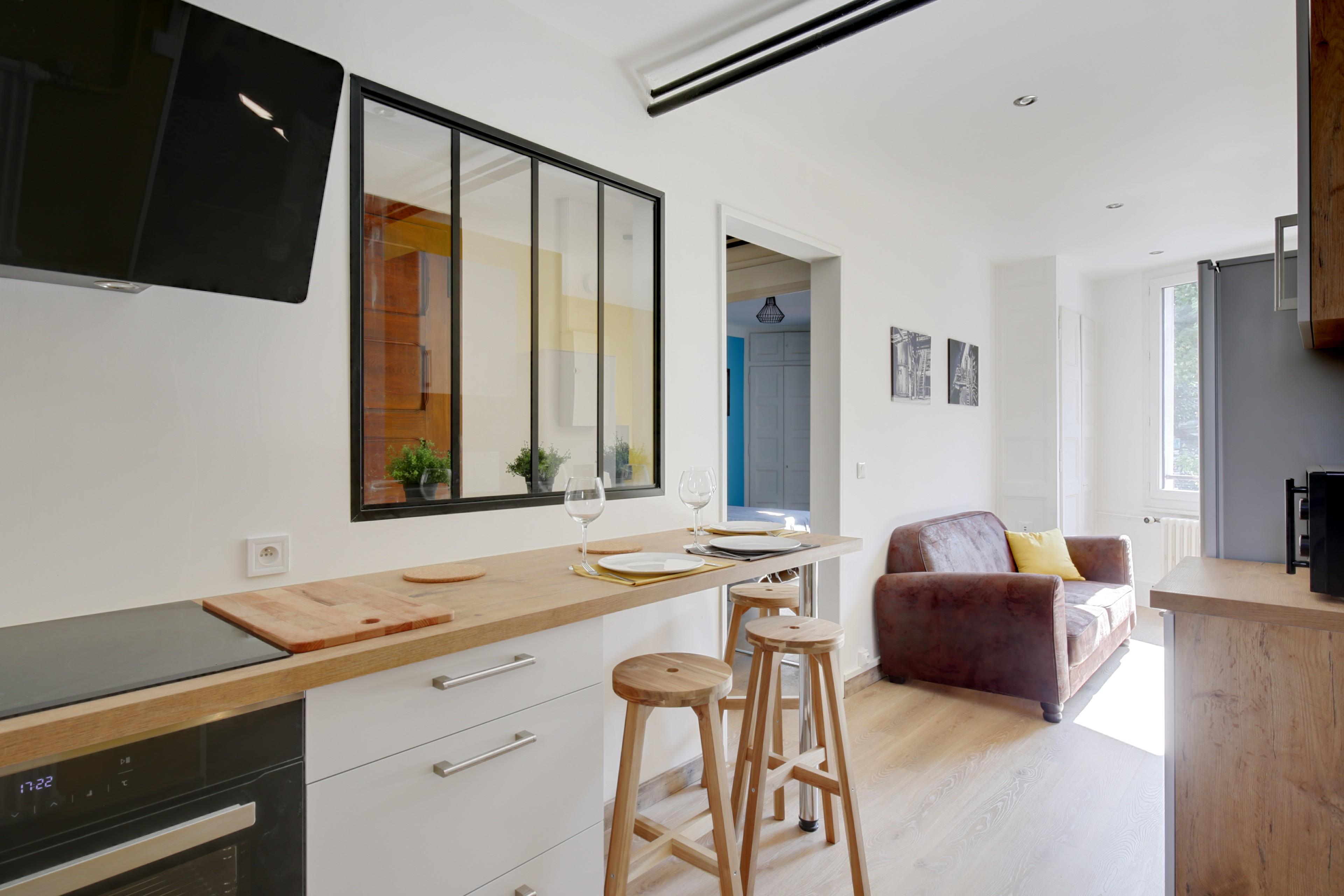 renovation complete d'un appartement/cuisine salon