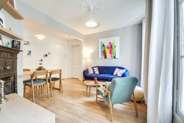 r novation d 39 un appartement de 53m2 paris 9 contemporain salon paris par gommez va z. Black Bedroom Furniture Sets. Home Design Ideas