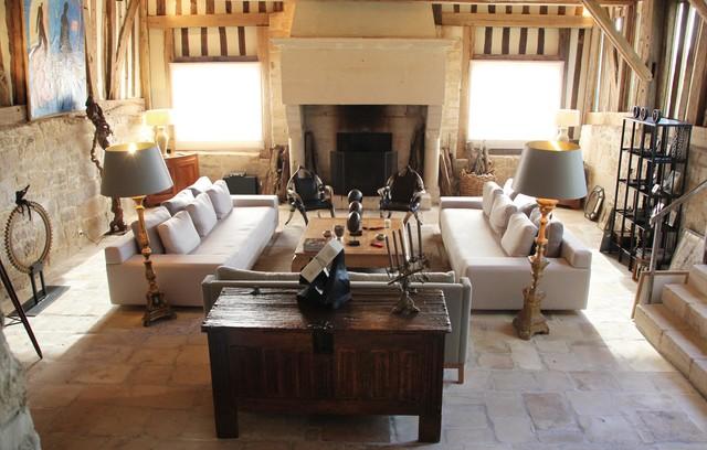 r novation et am nagement d 39 un pressoir campagne salon le havre par concept interieur. Black Bedroom Furniture Sets. Home Design Ideas