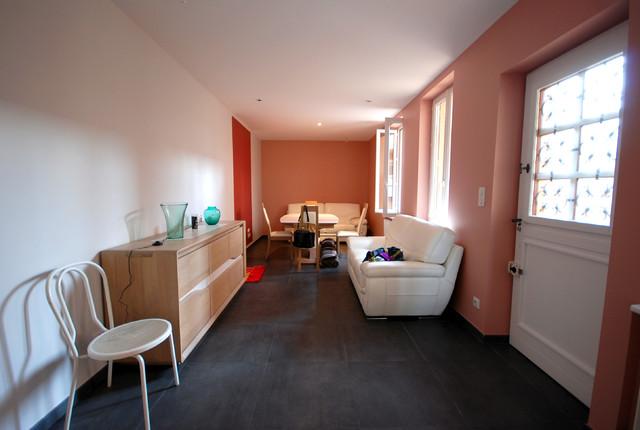 R novation maison de ville lyon contemporary living - Renovation petite maison de ville ...