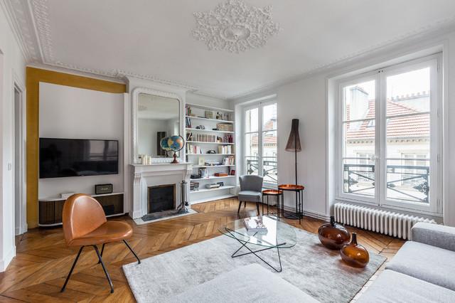 Salon classique chic - Transitional - Living Room - Paris - by Ludo ...
