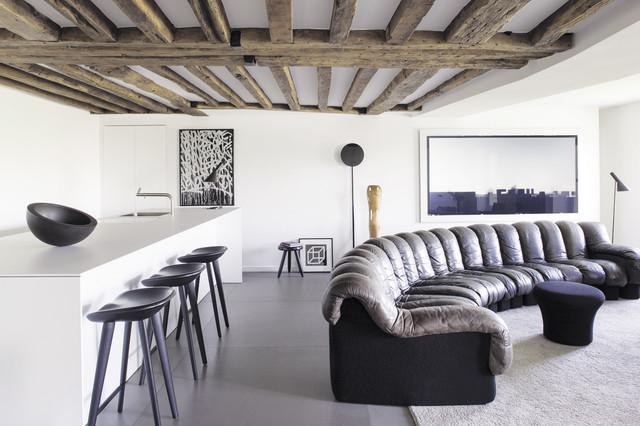 Salon contemporain à l\'Ile Saint-Louis - Modern ...