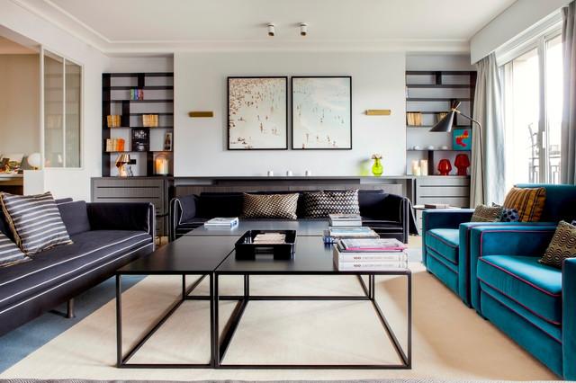 Salon contemporain - Avenue Montaigne contemporary-living-room